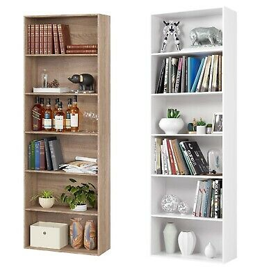 £56.99 • Buy 6Tier Wooden Bookcase Bookshelf Storage Cube Shelving Unit Display Stand Cabinet