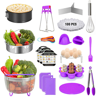 $46.99 • Buy 124 Pieces Instant Pot Accessories Set Fits 5 6 8 Quart Cooker W/ Steamer Basket