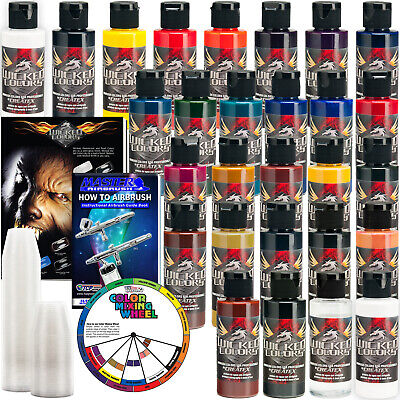 £123.13 • Buy 26 Createx Wicked Colors 2oz Detail Colors Airbrush Paint Set - Hobby Art Craft