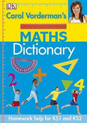 Carol Vorderman's Maths Dictionary (Made Easy) By Carol Vorderman, NEW Book, FRE • 7.51£