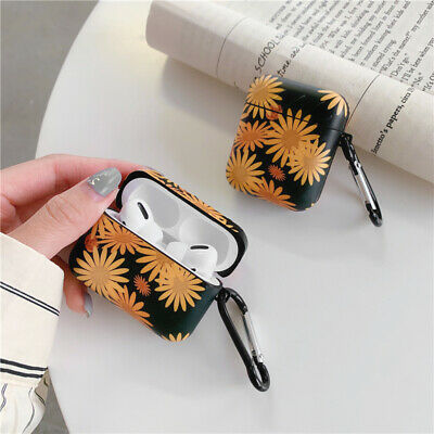 $ CDN6.59 • Buy Black Daisy Design Earphone Protected Cover For Airpods 1 2 3 Pro Soft Gel Cases