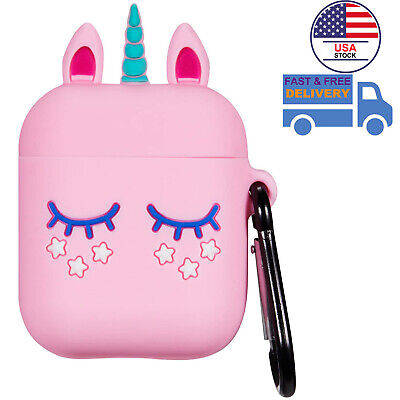 $ CDN8.80 • Buy AirPods Silicone Case Cover Protective Skin For Apple Airpod 2 & 1 3D Unicorn