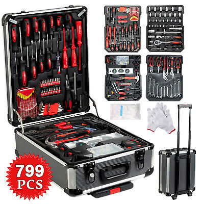 AU125.90 • Buy 718 PCS Tool Kit Set Portable Mechanic Box Toolbox Trolley Case DIY Hand Tools