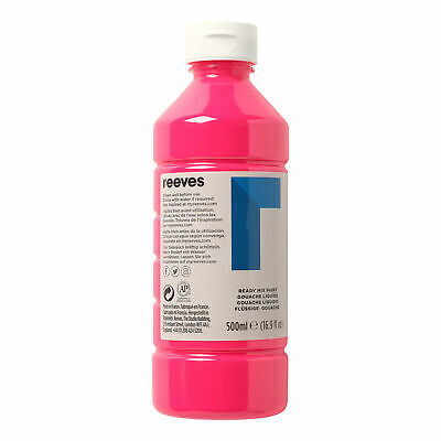 £7 • Buy Reeves Ready Mix Paint - 500ml, Fluorescent Pink