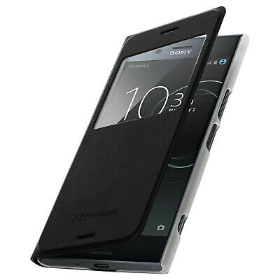 AU27.32 • Buy Smart View Window Flip Case For Sony Xperia XZ Premium, Slim Cover – Black