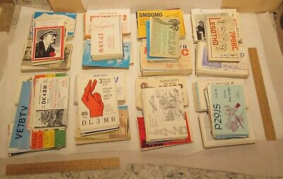 $ CDN605.08 • Buy 2325 - 1970s QSL HAM RADIO CARDs - Foreign And Domestic - 2 QSL Cardboxes Full