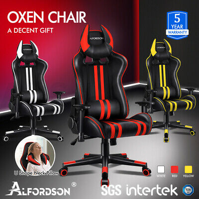AU169.85 • Buy ALFORDSON Gaming Chair Office Racing Seat Executive PU Leather Computer OXEN