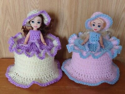1 TOILET ROLL, DOLLS COVER, CROCHET HAND MADE Or Any Colour, Special • 10.99£
