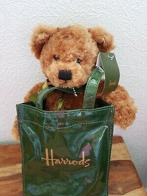 New Harrods Teddy Bear In A Harrods Gift Bag New With Tags On  • 25£