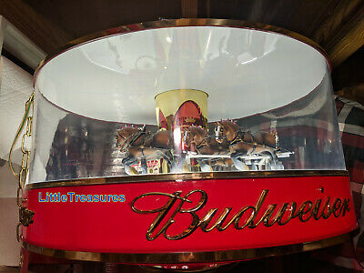 $ CDN211.38 • Buy Red Top Budweiser Carousel Clydesdale Horse Parade Light Rotary Synchron Motor