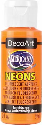Americana Neons Fluorescent Acrylic Paint 2oz-Torrid Orange -DHS-2 • 7.40£
