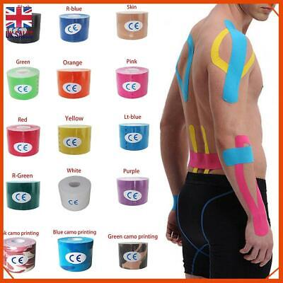 Kinesiology Tape Athletic Strapping Elastic Physio Muscle Sports Latex Free 5M • 4.23£