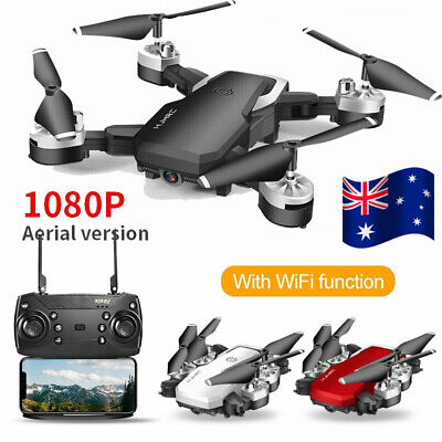 AU62.89 • Buy 1080P HD WIFI Drones Selfie FPV With Camera Foldable RC Aircraft Quadcopter AU