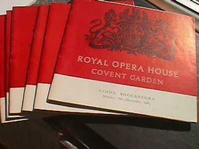 £6.50 • Buy Royal Opera House, Covent Garden - 6 Programmes From 1965