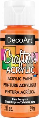 Crafter's Acrylic All-Purpose Paint 2oz-Pure Pumpkin -DCA-08 • 6.81£