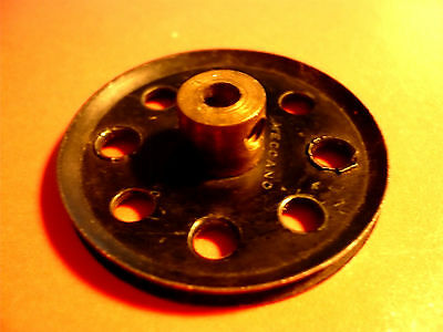Meccano  Pulley, Part No. 21, Black          • 2£