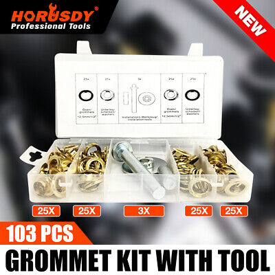 AU14.99 • Buy 103Pc Tarp Grommets Repair Kit 12mm Tents Tarps Shower Curtains Eyelets Tool New