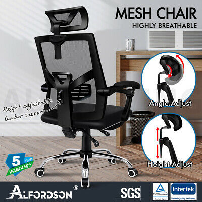 AU149.85 • Buy ALFORDSON Mesh Office Chair Gaming Executive Fabric Seat Racing Footrest Recline