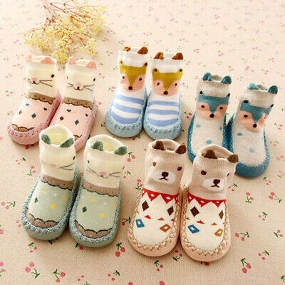Baby Socks Toddler Kids Anti-slip Slipper Socks For 0-18 Months Boys Girls Shoes • 5.89£