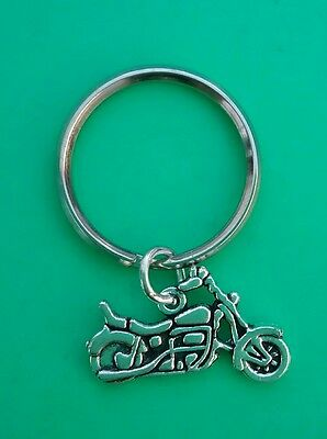 MOTORBIKE/BIKE/BIKER Keyring/Bag Charm. Birthday/Christmas Gift. • 2.35£