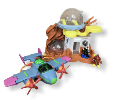 FISHER PRICE Imaginext Space Moon Station With 2 Figures And Plane • 19.99£