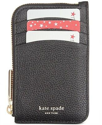 $ CDN94.91 • Buy Kate Spade Margaux Zip Card Holder Key Fob Case Leather Wallet ~NWT~ Black