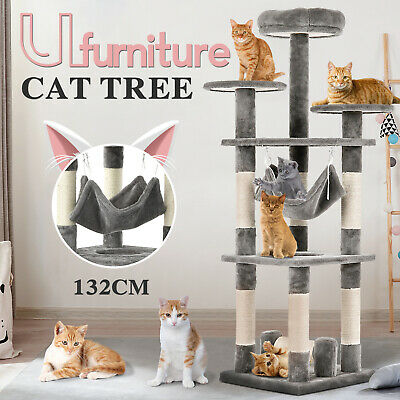 AU99.90 • Buy Cat Tree Scratching Post Scratcher Tower Condo Toy House Wood Furniture 132CM