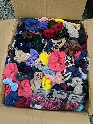 $15 • Buy Lot Of 30 Assorted Scrunchies And Hair Ties, Free Shipping