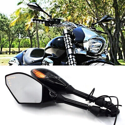 $32.95 • Buy LED Turn Signals Motorcycle Mirrors 8mm 10mm Gloss For Suzuki Boulevard M109R