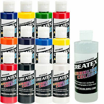 £43.45 • Buy 12 Createx Colors Airbrush Paint Set Basic Colors, Mix Cups, FREE How To Book