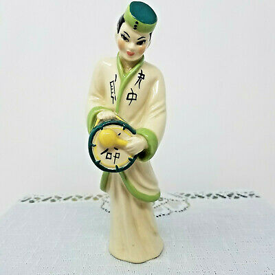 $14.99 • Buy Ceramic Arts Studio Asian Musician Figurine Vintage 1950s American Art Pottery