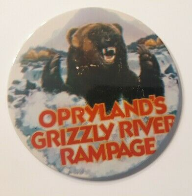 $8 • Buy Vintage NASHVILLE TENNESSEE Opryland GRIZZLY RIVER PAMPAGE Pinback Button