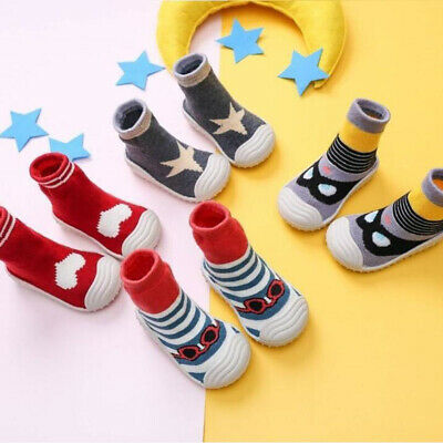 Baby Toddler Kids Anti-slip Crawling Socks Shoes Thicken Slipper Boots Christmas • 7.99£