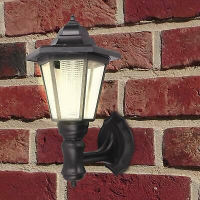 Wall-Mounted Lamp Outdoor Garden Light With Dusk To Dawn Sensor Black • 9.59£