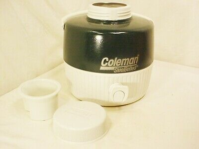 $19.99 • Buy Vtg Coleman Steel Belted Water Jug Cooler Gallon Drink Container Camping QkShip