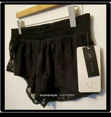 $ CDN81.59 • Buy Lululemon NWT 2.5  Black City Sky Run By Short Luxtreme Relective Mesh Size 10