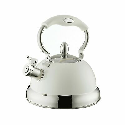 Typhoon Retro Whistling Kettle Pastel Colours Cream Induction Stove Top • 19.99£