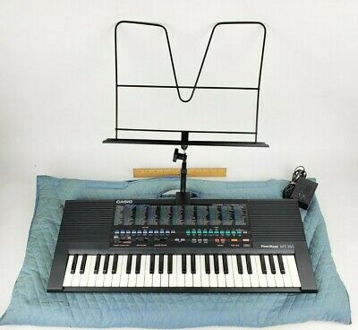 $99.95 • Buy Vintage Casio MT-260 Tone Bank Electronic Keyboard Control Soft Case Charger