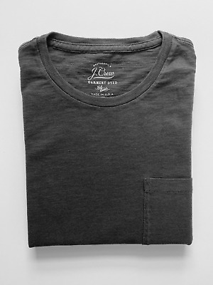 $16.50 • Buy J Crew Pocket T-Shirt (NWT) Charcoal Black, Garment Dyed, UP TO 67% OFF MSRP