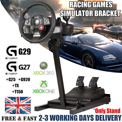 Racing Simulator Steering Wheel Stand For Logitech G25 G27 G29 G920 PS4 PS3 Xbox • 45.99£
