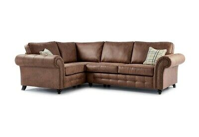 New Oakland Left Hand Corner Sofa Tan • 629£