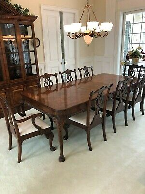 $3499 • Buy Hekman Mahogany Dining Table With Extension Leaves And 8 Matching Chairs