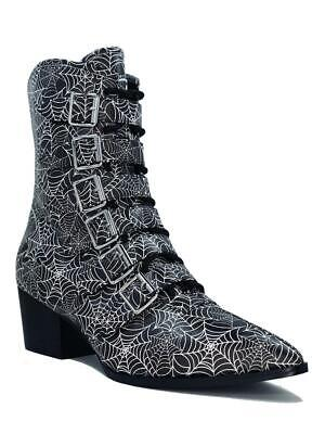 Strange Cvlt Cult YRU Coven Spider Webs Witch Gothic Punk Halloween Boots Shoes • 116.02£