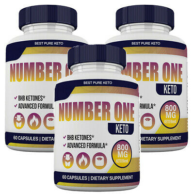 $44.99 • Buy Number One Keto Pills Advanced Weight Loss Appetite Control With GoBHB 3 Bottles
