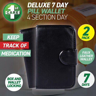 AU20 • Buy 1st Care® 2PCE 7 Day Pill Wallet Box Organiser Weekly & Tablet Storage Dispense