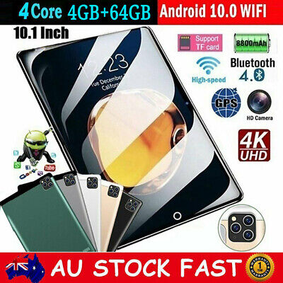 AU123.99 • Buy 10.1 Inch Android 10.0 Tablet PC 10G+512G Bluetooth WIFI Dual Camera Phablet Pad