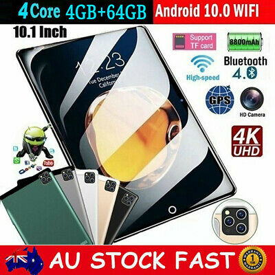 AU127.99 • Buy 10.1 Inch Android 10.0 Tablet PC 4G+64G Bluetooth WIFI Dual Camera Phablet Pad