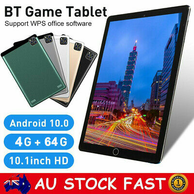 AU127.88 • Buy 10.1 Inch Android 10.0 Bluetooth Tablet PC 4+64GB WiFi 1080P Dual Camera GPS WPS
