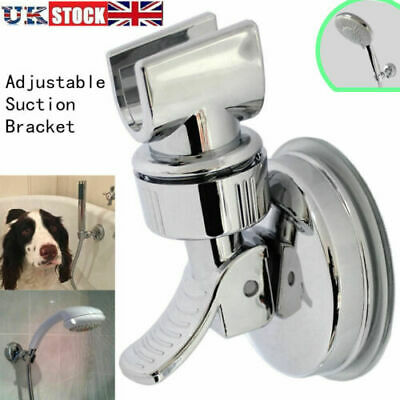 Adjustable Bracket Suction Shower Head Handset Holder Kit Bathroom Wall Mount UK • 6.59£