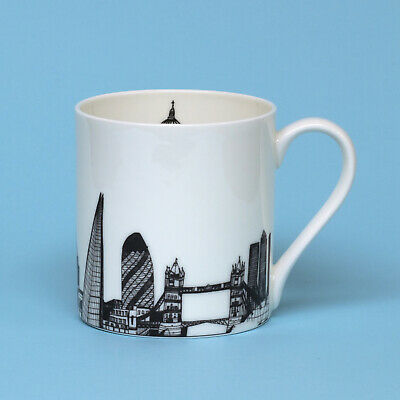 Cecily Vessey Bone China London Skyline Mug Black & White • 12.95£
